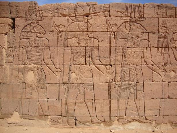amun-horus-and-apedemak-naga